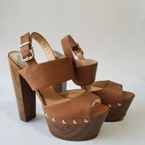 Jessica Simpson Brown High Heel Platforms